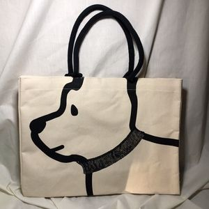 Best Friend Dog Tote with Gold Sequin Collar